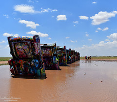 Cadillac Ranch - Route 66 (LocalOzarkian Photography - Ozarks/ Route 66 Photo) Tags: cadillacranch amarillotexas texasroute66 route66 motherroad texaspanhandle texas mud cadillac water