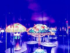 Leaded Glass Lamps (El Alcalde de l'Antartida) Tags: leaded glass stained lamp color colour colorful art craft artnouveau tiffany nyc ny newyorkcity manhattan museum exhibit display historicalsociety light shade artwork illuminated colored lampada vetro colorato colori arte illuminazione luce museo
