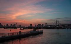 Today's sunset (sapphire_rouge) Tags: sunset 東京 夕日 お台場 seaside 湾岸 tokyo レインボーブリッジ rainbowbridge japan odaiba