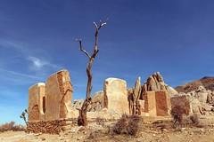 Remnants (garshna) Tags: ryanranch joshuatreenationalpark abandoned ruins adobe tree sky