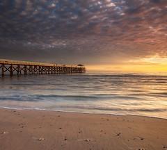 Golden Grange Jetty (BTAdelaide) Tags: clouds waves winter goldenhour twilight fujifilm seascape beachlife sea landscapephotography landscape beach jetty australia ocean southaustralia adelaide sunset
