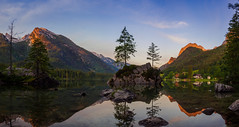 A s c e n d i n g (davYd&s4rah) Tags: sunrise sun mountain berchtesgaden hintersee germany bavaria lake see tree fels mirror spiegelung longtime exposure longexposure langzeitbelichtung ƒ110 olympus em10markii m1240mm f28 uww wide angle weitwinkel panorama landscape nature sky glowing red morning alpen nationalparkberchtesgaden ascending tranquil calm freedom olympusm1240mmf28