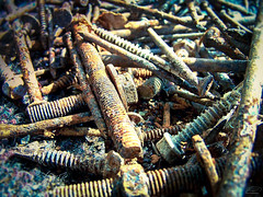 Bolts of chaos (D D photography) Tags: photo photos photography screws screw metal metals carpet rythm bolt bolts chaos messy mess rust rusty colorful brown steel old silver gray