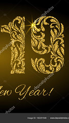 Happy New Year 2019. The figures from a floral ornament with gol (Hafiz03) Tags: 2019 year new gold banner golden vector card shine greeting decoration floral shimmer night glitter celebration light black illustration shiny texture design merry blur background party spark sparkle glowing holiday bright template star luxury glow backdrop happy figures digit ornament glossy festive number