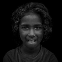Expression (shravann93) Tags: nikonindiaofficial iamnikon nikon nikonasia blackandwhite black portrait india expression kids girl chennai parryscorner 50mmf18