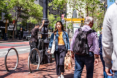 San Francisco 2018 (burnt dirt) Tags: sanfrancisco california vacation town city street road sidewalk crossing streetcar cablecar tree building store restaurant people person girl woman man couple group lovers friends family holdinghands candid documentary streetphotography turnaround portrait fujifilm xt1 color laugh smile young old asian latina white european europe korean chinese thai dress skirt denim shorts boots heels leather tights leggings yogapants shorthair longhair cellphone glasses sunglasses blonde brunette redhead tattoo pretty beautiful selfie fashion japanese yellow bag stomach belly