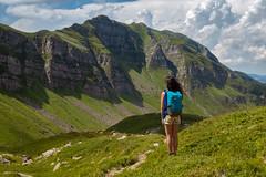 Facing the mountain (Mattia Querci) Tags: mountain landscape hiking walking hiker backpacker backpacking outdoor mountains summer travel
