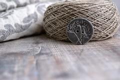 grey fennel button (Cherryhill Studio) Tags: ceramic handmade ceramicbuttons buttons grey fennel