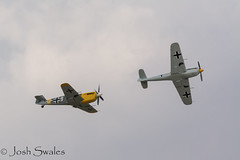 Got Your Back (Josh R S) Tags: airshow flyinglegends2018 aircraft bf109 buchon hispanobuchon aviationphotography historicaircraft imperialwarmuseumduxford duxford