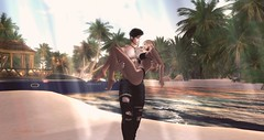 In My Arms (christophersaxton) Tags: secondlife second live romance beach love water moments cute rescue arms life together digital