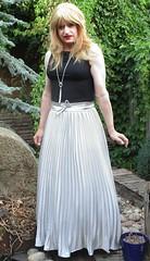Petticoated Sunray (Amber :-)) Tags: long sunray pleated tgirl transvestite crossdressing skirt silver