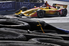 Ryan Hunter-Reay and the tires, HIT 2018 (Richard Wintle) Tags: honda indy toronto indycar verizon turn8 racing motorsport autosport meridian rhr ryanhunterreay andrettiautosport andretti tires tyres streetsoftoronto exhibitionplace