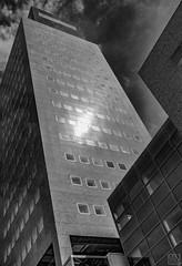 Leeuwarden -Officetower- (MAICN) Tags: 2018 lines vhs building leeuwarden sw hochhaus sky mono windows linien gebäude front clouds fassade turm bw skyscraper blackwhite monochrome geometrisch tower schwarzweis fenster architecture himmel einfarbig architektur geometry wolken