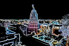 India - Rajasthan - Udaipur - Night View With Jagdish Temple - 32dd (asienman) Tags: india rajasthan udaipur nightview asienmanphotography asienmanphotoart jagdishtemple