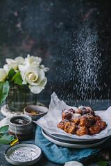 Kolar Boda (Bengali Style Banana Fritters) (Kankana Saxena) Tags: foodphotography foodstyling editorial action sprinkle easy blogpost dessert bengali kolkata