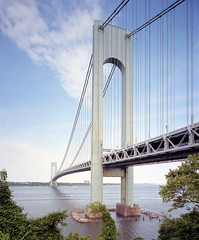 Verrazano Bridge (devb.) Tags: 4x5 largeformat chamonix045n2 75mm ektar verrazanobridge statenisland thenarrows nyc ny