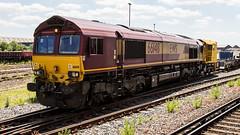 66148 (JOHN BRACE) Tags: 1999 gmemd london canada built co class 66 loco 66148 seen eastleigh english welsh scottish livery