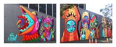 3711LBB (fe2cruz) Tags: longbeach graffiti colorful color mural diptych landscape space red orange losangeles ca california usa socal southerncalifornia 7dwf