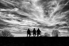 Enjoying the view (Birdhouse camper) Tags: copenhagen denmark sky fujifilm fuji xt2 fujixt2 silhouettes blackandwhite blackwhite