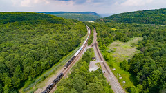 Tunnelhill Overlook (benpsut) Tags: drone nspittsburghline nsi1m newportagerailroad newportagetunnel norfolksouthern theslide tunnelhill aerial aerialphotography dronephotography i1m overlook railroad trains tunnel