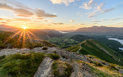 Catbells Sunset (thomasgreen92) Tags: sun sunset england photography photo landscape sea light lighthouse tripod manfrotto lens camera picture image grass colour rocks ocean water sky bay rock nikon d750 1835 dawn sunrise lone tree lonetree lakedistrict beautiful beauty reflections reflection lake mountain wood serene sunstar sunlight honister pass