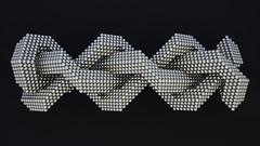 Quadruple Helix Knot (Mathnetism) Tags: neodymium zen magnets quadruple helix knot