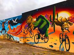Tucson wall art slide (johngpt) Tags: artistsjoepagac mural wall appleiphone7plus wallart places tucsonaz tucson arizona unitedstates us sliderssunday hss