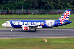 AirAsia | Airbus A320-200 | 9M-AFV | Queens Park Rangers livery | Singapore Changi (Dennis HKG) Tags: aircraft airplane airport plane planespotting canon 7d 100400 singapore changi wsss sin airasia malaysia axm ak airbus a320 airbusa320 qpr 9mafv queensparkrangers