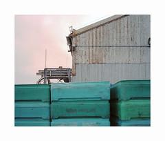 ** (ha*voc) Tags: mamiya7ii 65mm rangefinder film 120 mediumformat 6x7 kodakektar100 urban urbanstilllife harbour usa california monterey corrugation silence