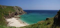 Hidden Cove (Sundornvic) Tags: cove cornwall porthchapel sea sand sun shore cliffs beach rocks blue sky