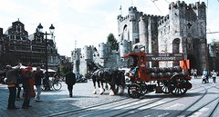 Gent (mariuszpawel) Tags: gent belgium streephotography streephoto europe nikon castle architecture culture old horses people road building