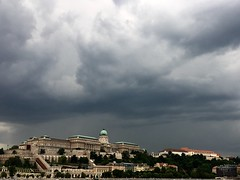 (jankowskiadam86) Tags: shootwithiphone palace danube clouds thunderstorm budapest sky landscape building city overcast grass trees