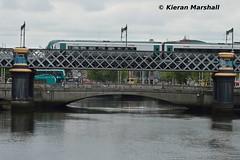 22012 crosses the River Liffey, 12/6/18 (hurricanemk1c) Tags: railways railway train trains irish rail irishrail iarnród éireann iarnródéireann 2018 dublin looplinebridge riverliffey 22000 rotem icr rok 4pce 22012 1336connollyrosslareeuroport