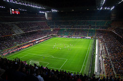 San Siro at night, Milano, 20140518 (G · RTM) Tags: sansiro acmilan giuseppemeazza stadium stadio game football soccer seriea night evening lights