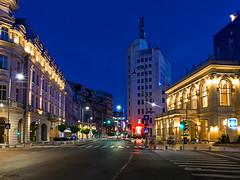(plitch) Tags: plitchphotostream plitch architecture bucharest romania night continental hotel novotel the telephone palace