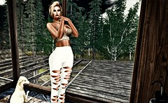 Woods (kare Karas) Tags: woman lady femme girl girly sweet beauty pretty cute forest nature living peace soul sensual sexy bento mesh appliers game fun virtual avatar secondlife event top leggins makeup catwa entice bootysbeauty designershowcaseevent
