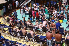 people on cruise pool deck (miosoleegrant2) Tags: ship deck cruise vacation sea pool swim bare chest naked swimsuit swimwear sunning male men hunk muscle masculine pecs torso guy chested buzz armpits hairy nipples abs navel outdoor water swimming sport husky burly strapping brawny speedo people belly