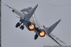 Polish Mig 29 Burner (zoomerphil) Tags: cosford raf 2018 airshow mig 29 poland polish force burner fire thrust jet fighter attack