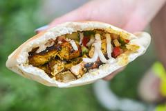 Chicken Shawarma (joshbousel) Tags: chicken chickenshawarma condiment cuisine eat food hummus israelisalad meat middleeastern poultry salad sauce shawarma tahini thigh vegetable