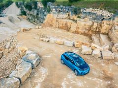 BMW i3 im Steinbruch (JayUny) Tags: bmw i3 bmwi3 elektroauto elektro auto electriccar electric car ev bavaria nature steinbruch stonepit offroad