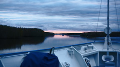 Quieting down (Francoise100) Tags: russia russie russland water waterscape wasser dusk sunset clouds boat ship