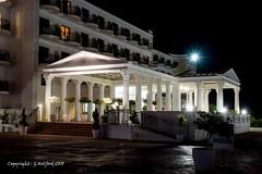 Nightime Elegance (Holfo) Tags: cyprus protaras constantinosthegreat hotel night white greek columns architecture nikon d5300 building