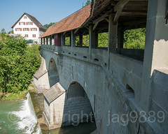 SIH250 Devil's Covered Bridge over the Sihl River, Egg, Canton of Schwyz, Switzerland (jag9889) Tags: 2018 20180708 bach bridge bridges bruecke brücke ch cantonschwyz cantonofschwyz centralswitzerland coveredbridge crossing devilsbridge devils einsiedeln europe fluss gkz577 helvetia historic holzbrücke infrastructure innerschweiz kantonschwyz landscape limmattributary outdoor pont ponte puente punt river road roadbridge sz schweiz schwyz sihl span strassenbrücke stream structure suisse suiza suizra svizzera swiss switzerland teufelsbrücke tree wasser water waterway woodenbridge zentralschweiz jag9889