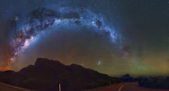 Milky Way over the Stirling Ranges, Western Australia (inefekt69) Tags: stirling ranges bluff knoll panorama stitched mosaic milky way cosmology southernhemisphere cosmos southern westernaustralia australia dslr long exposure rural nightphotography nikon stars astronomy space galaxy astrophotography outdoor milkyway ancient sky 35mm d5500 landscape nebula eta carinae carina coal sack tracked ioptron skytracker star tracking mountain airglow msice