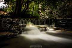 farbiges Wasserfällchen (Emanuel D. Photography) Tags: waterfall nature forest stream river tree water freshness scenics rockobject landscape outdoors leaf falling woodland