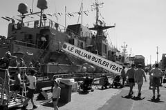 SeaFest 2018 (mcginley2012) Tags: seafest18 seafest galway ireland docks ship gangway candid children flags festival navy monochrome blackwhite street