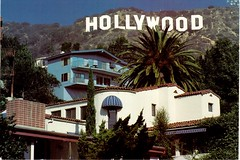 Postcrossing US-5424187 (booboo_babies) Tags: hollywood sign mountains california losangeles southerncalifornia palmtrees moviestar showbusiness house buildings postcrossing