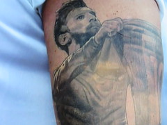 Messi Tattoo (knightbefore_99) Tags: football futbol 2018 worldcup russia cool sport stupid tattoo dumb idiotic messi ink blue blob scar retarded