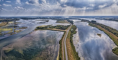 Noordwaard aerial (Wim van de Meerendonk, loving nature) Tags: noordwaard biesbosch brabant noordbrabant clouds cloudscape cloud drone mavicpro djimavicpro landscape merwede netherlands nederland outdoors outdoor panorama reflection river sony sky thenetherlands wimvandem water wetlands golddragon