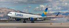 Condor 767-31B(ER) landing at KLAS (Alaskan Dude) Tags: travel las klas mccarren mccarreninternationalairport planespotting airplanes airliners airliner aviation planewatching